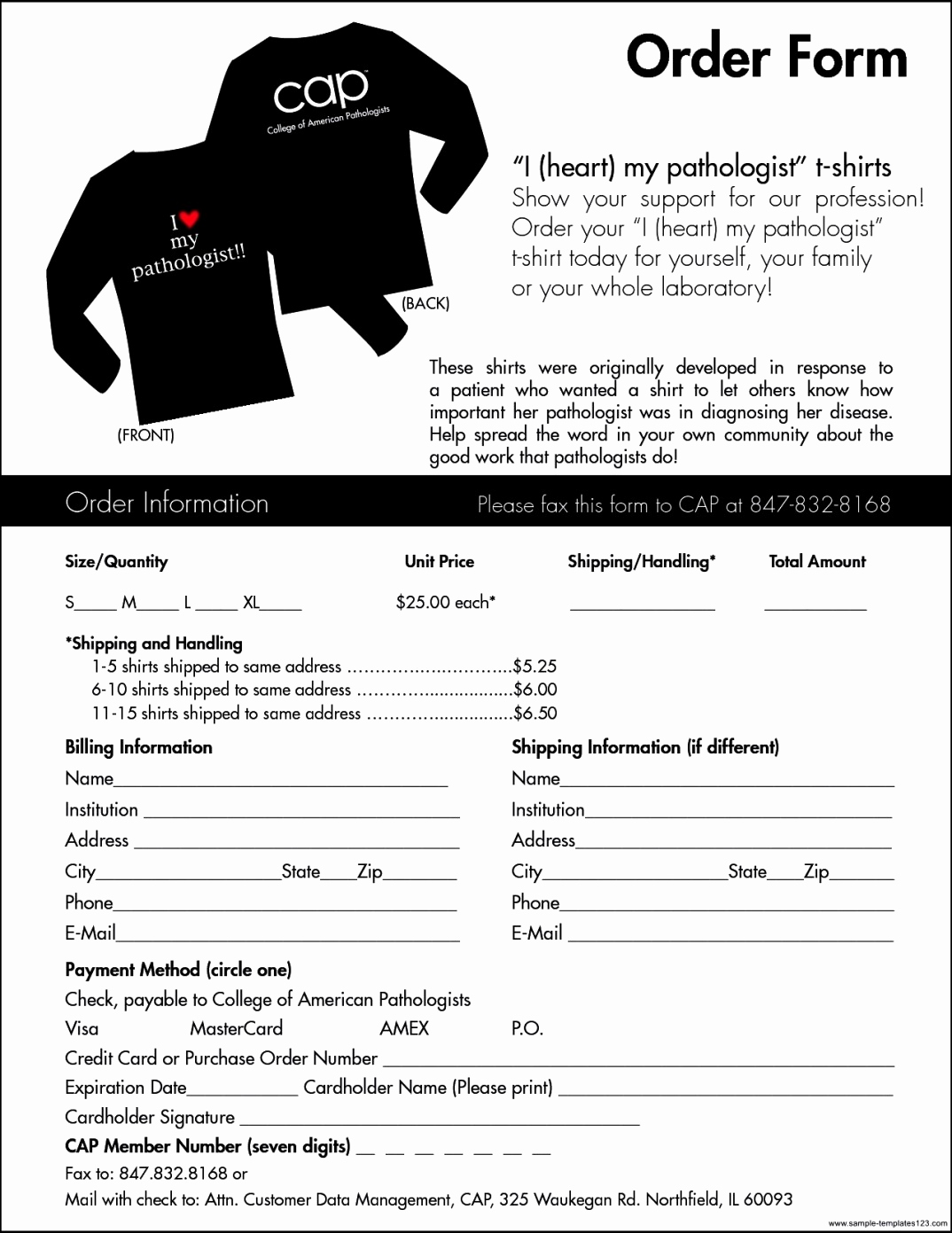 Fundraising order form Templates Inspirational T Shirt order form Template