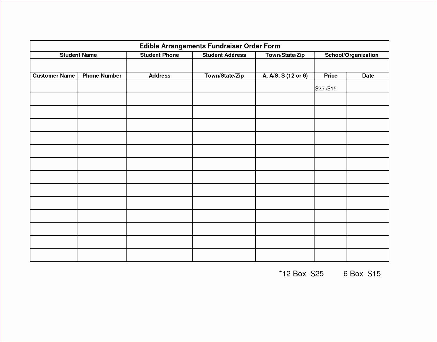Fundraising order form Templates Lovely 6 Fundraising Template Excel Exceltemplates Exceltemplates