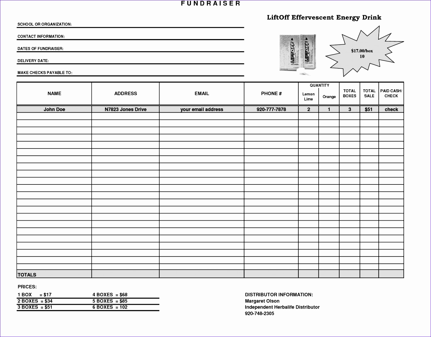 Fundraising order form Templates Luxury 10 Making A Template In Excel Exceltemplates