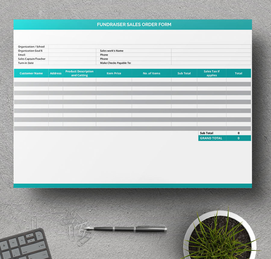 Fundraising order form Templates New 7 Free order form Templates Docs Pages