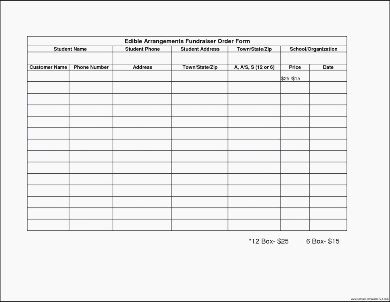 Fundraising order form Templates Unique 12 Ideas to organize Your Own Fundraiser