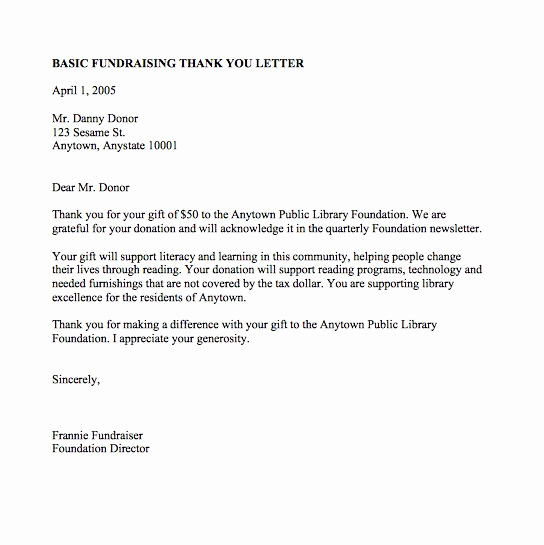 Fundraising Thank You Letter Beautiful 30 Thank You Letter Templates Scholarship Donation Boss