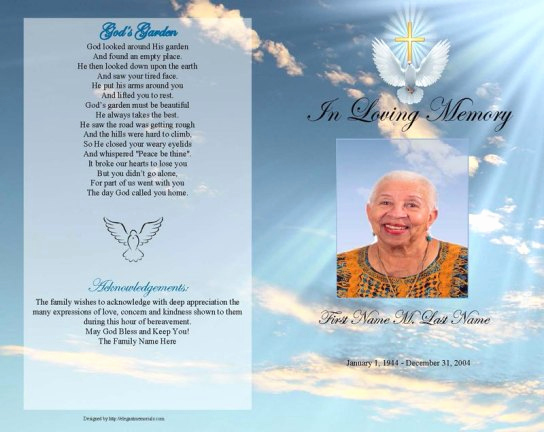 Funeral Program Template Free Awesome 6 Free Funeral Program Templates Microsoft Word Website