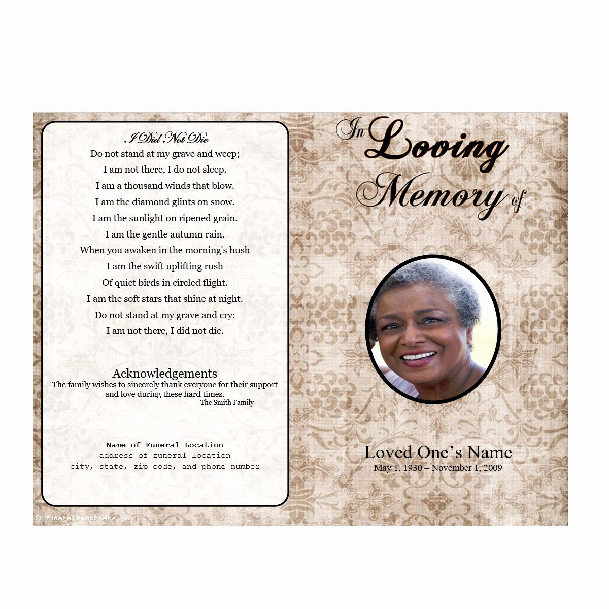 Funeral Program Template Free Awesome Obituary Program Template Letter Examples Funeral Samples