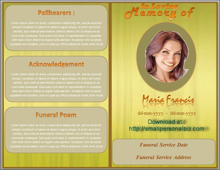 Funeral Program Template Free Beautiful 79 Best Images About Funeral Program Templates for Ms Word