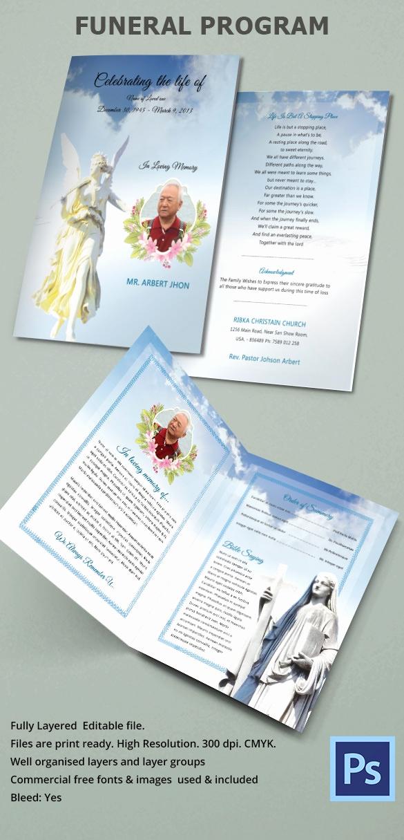 Funeral Program Template Free Elegant Sample Funeral Program Template 30 Download Free