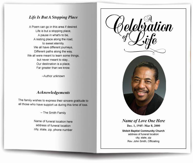 Funeral Program Template Free Fresh Funeral Program Obituary Templates