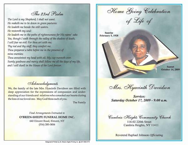 Funeral Program Template Free Inspirational 6 Free Funeral Program Templates Microsoft Word Website