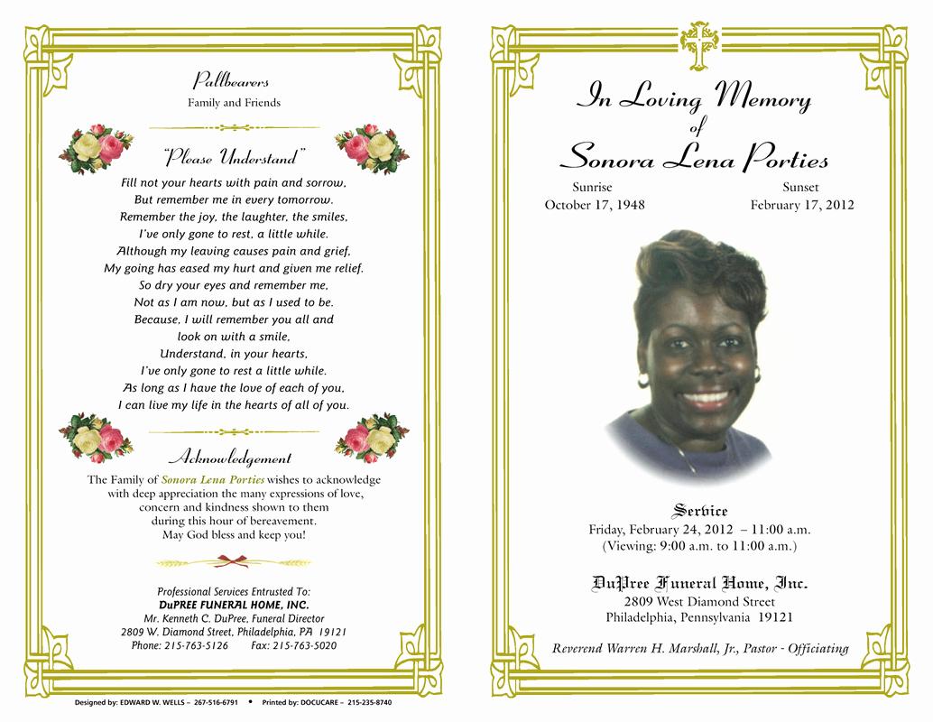 Funeral Program Template Free New Blog Archives Ebooktracker