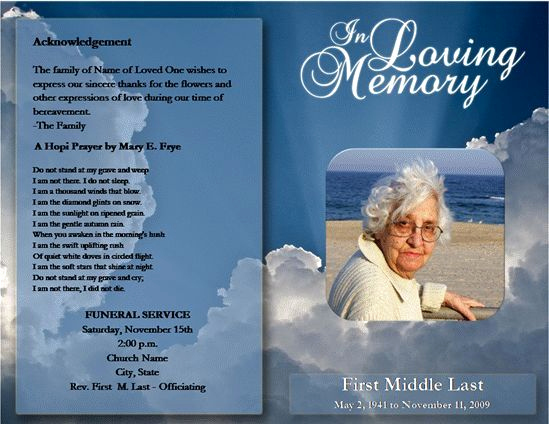 Funeral Program Template Free New Free Funeral Program Template Microsoft Word