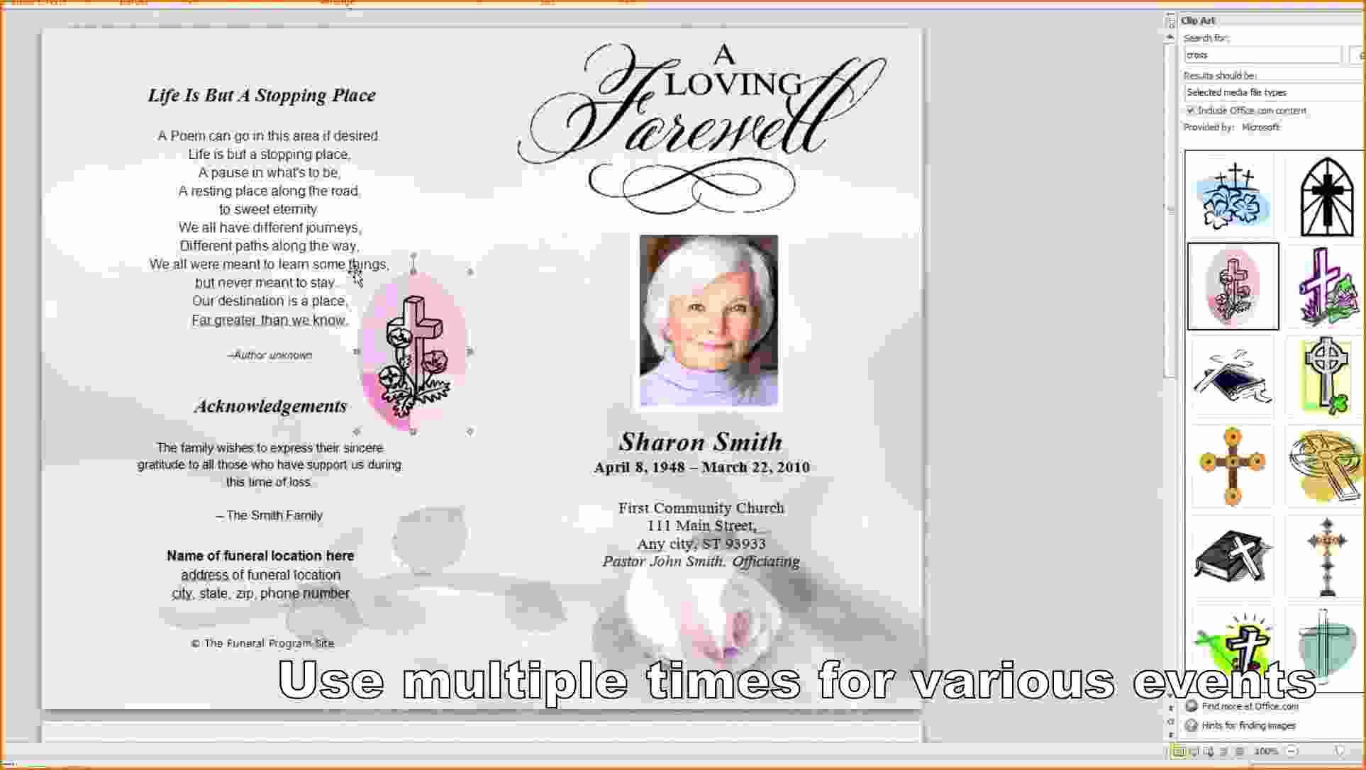 Funeral Program Template Free Unique 8 Free Funeral Program Template Microsoft Word