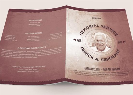 Funeral Program Template Free Unique Sample Funeral Program Template 30 Download Free