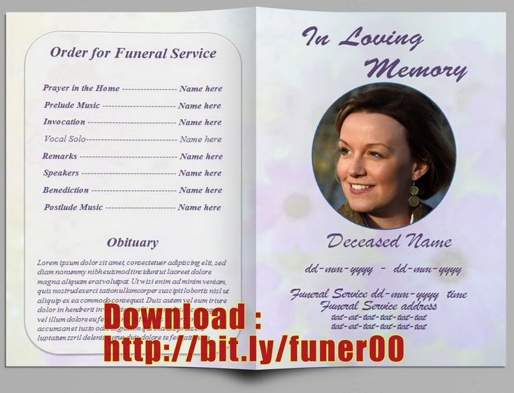 Funeral Service Program Template Fresh 17 Best Ideas About Memorial Service Program On Pinterest
