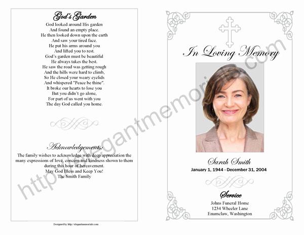 Funeral Service Program Template Inspirational Memorial Service Program Sample