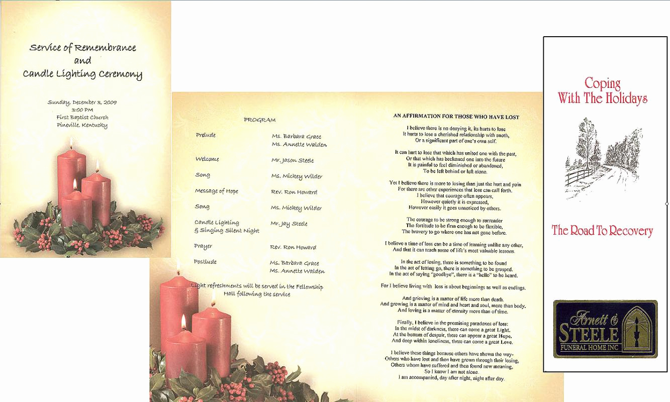 Funeral Service Program Template Lovely Free Memorial Service Program Template