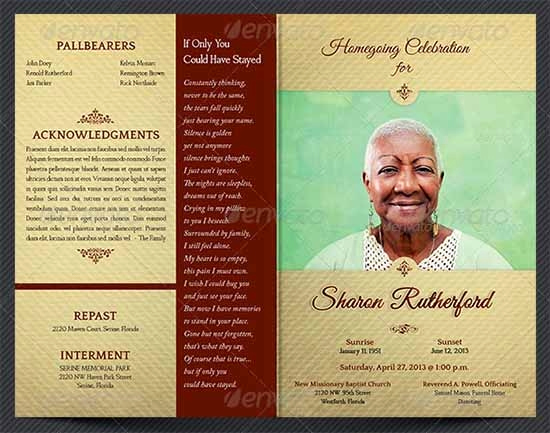 Funeral Service Program Template Lovely Sample Funeral Program Template 30 Download Free