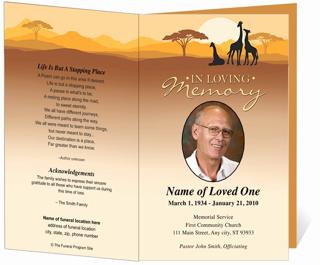 Funeral Service Program Template New 214 Best Creative Memorials with Funeral Program Templates