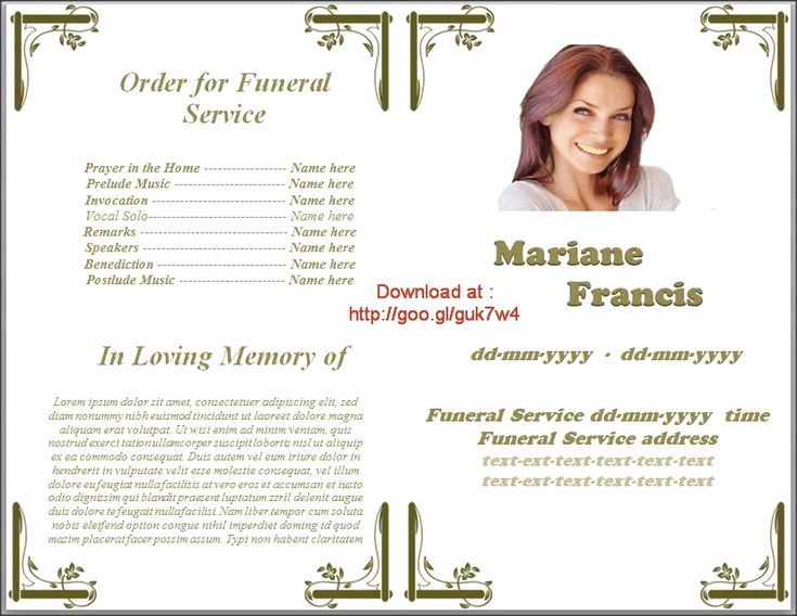 Funeral Service Program Template Unique Pin by Sam Bither On Funeral Program Templates for Ms Word