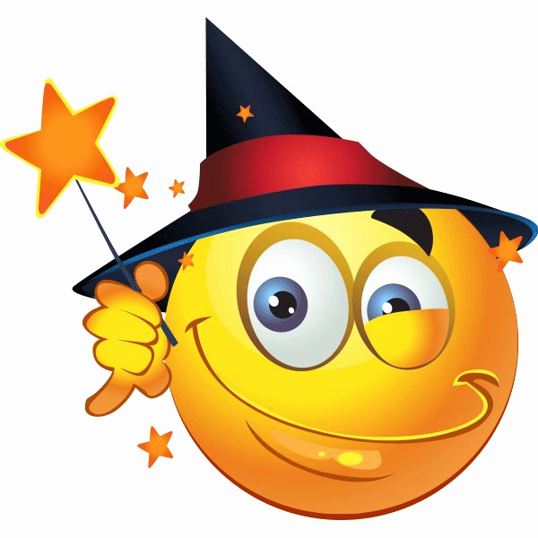 Funny Emoji Copy and Paste Beautiful Witchy Smiley
