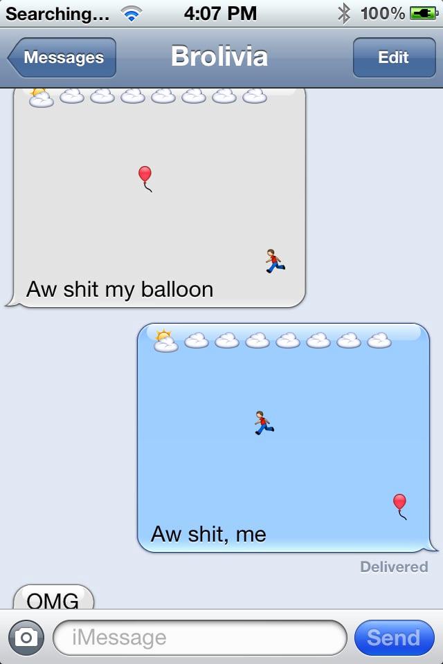 Funny Emoji Texts to Copy Elegant Runaway Balloon Funny Emoji Texts