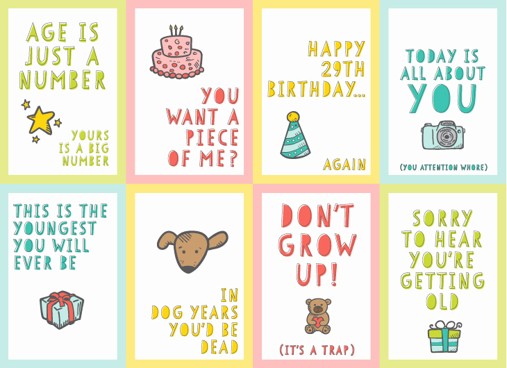 Funny Printable Birthday Cards Inspirational Free Funny Printable Birthday Cards for Adults Eight