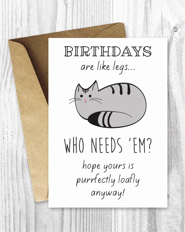 Funny Printable Birthday Cards Lovely Funny Birthday Cards Cat Birthday Printable Cards Digital