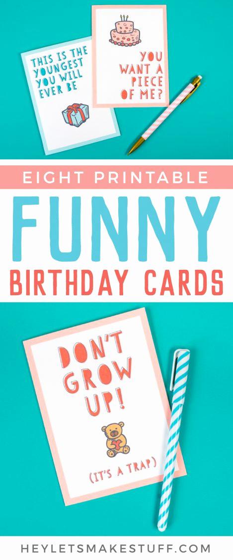 Funny Printable Birthday Cards Luxury Free Funny Printable Birthday Cards for Adults Eight