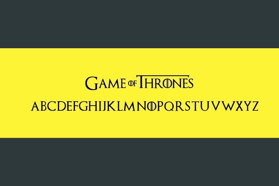 Game Of Thrones Fonts Beautiful Game Of Thrones Font