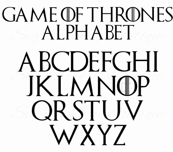 Game Of Thrones Fonts Inspirational Game Of Thrones Alphabet Fonts Svg Png Dxf for Cricut