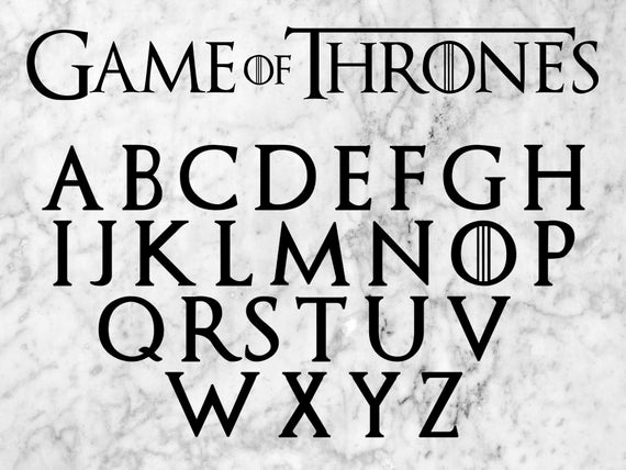 Game Of Thrones Fonts Luxury Game Of Thrones Svg Game Of Thrones Font Cut Files Dfx & Png
