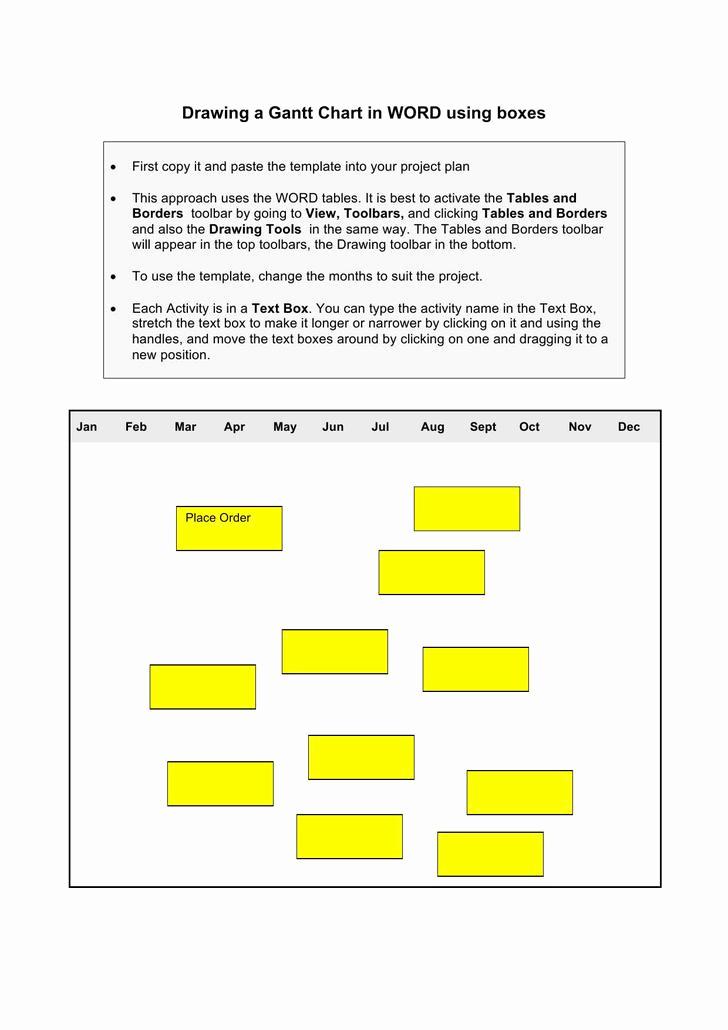 Gantt Chart Template Word New Download Gantt Chart Templates for Free Tidytemplates