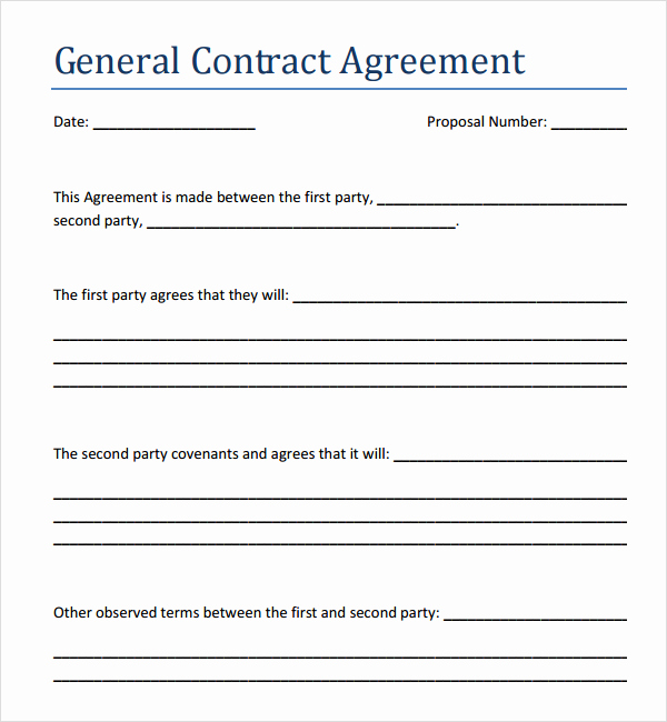 General Contractor Contract Template Elegant Sales Agreement Templates Pdfs