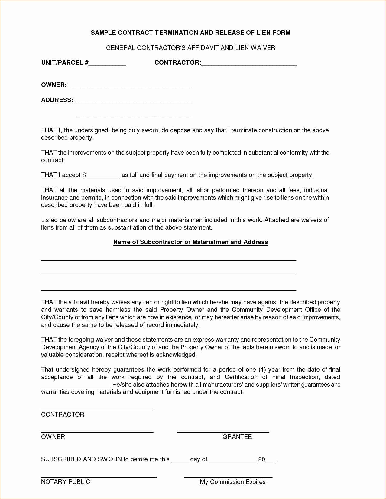General Contractor Contract Template Fresh Standard General Contractor Agreement Clean 6 General