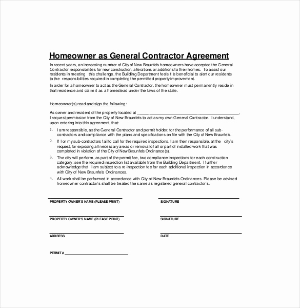 General Contractor Contract Template Lovely Contractor Agreement Template – 23 Free Word Pdf Apple
