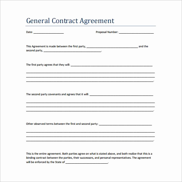 General Contractor Sample Contract Inspirational Sample Contract Agreement 13 Free Documents Download In