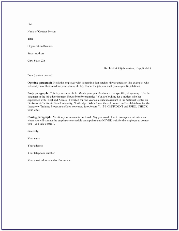 General Cover Letter Examples Elegant Basic Cover Letters for Resumes General Letter Resume