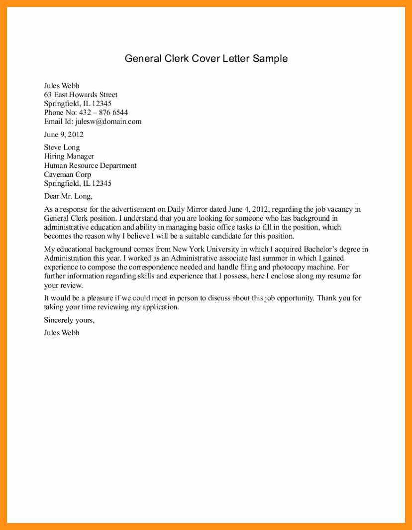 General Cover Letter Examples Unique Basic Cover Letter for Any Job