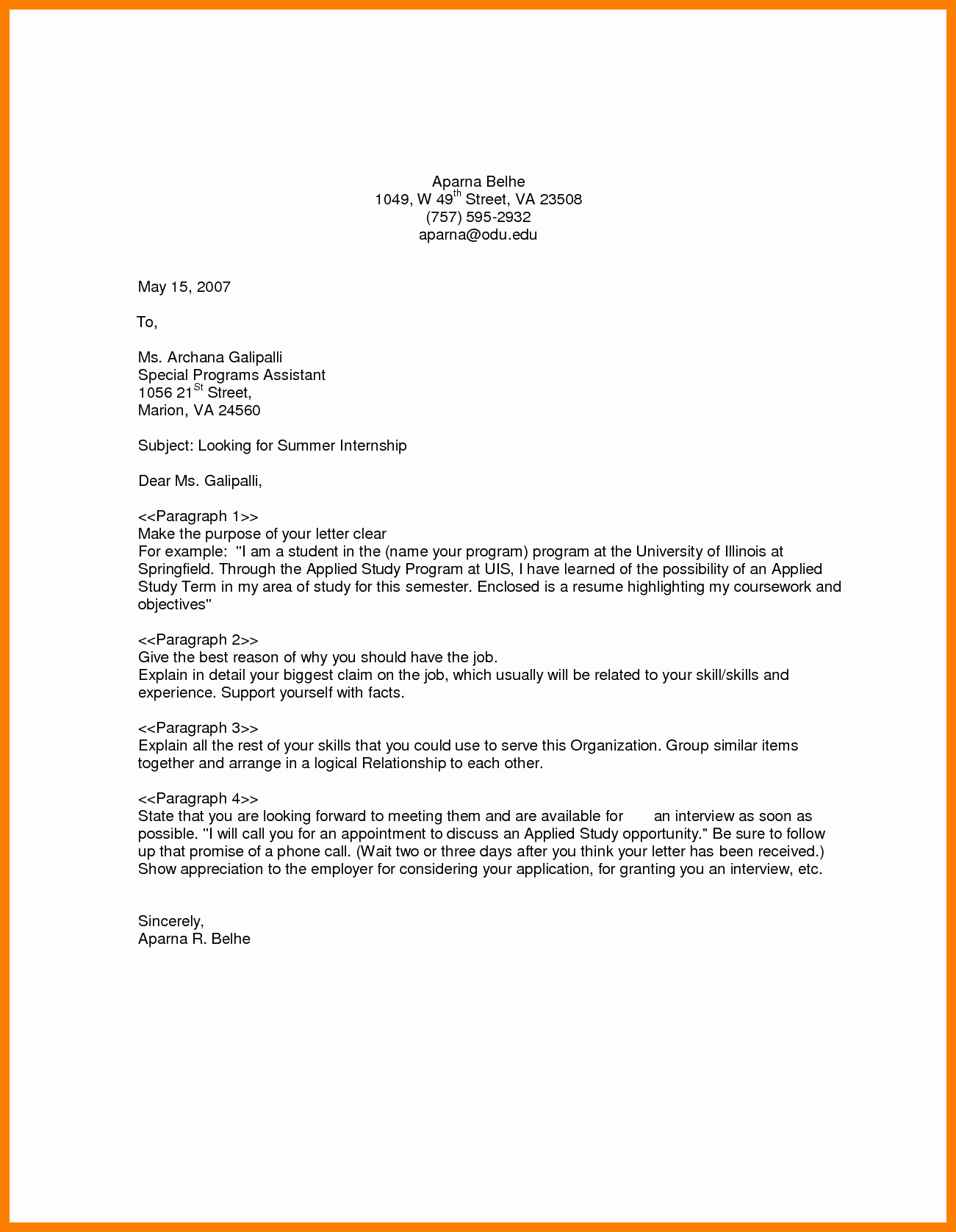General Cover Letter Sample Best Of 9 10 Sample Cover Letters for Job Openings