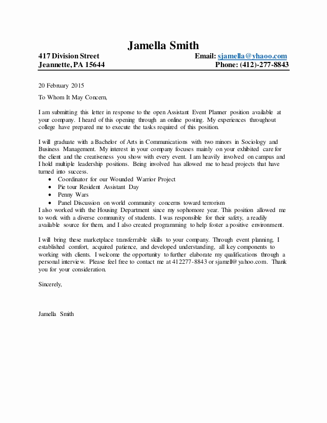 General Cover Letter Sample Lovely General Cover Letter