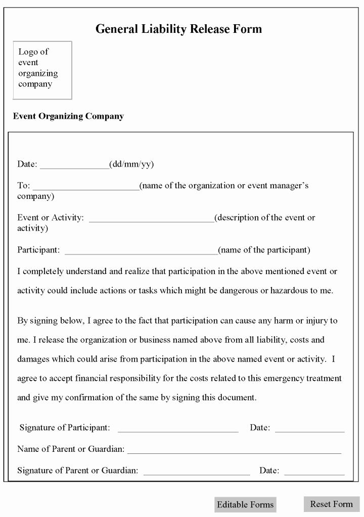 General Liability Release form Inspirational 895 Best Laywers Template forms Images On Pinterest