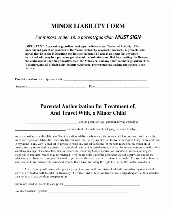 General Liability Release form New Sample General Liability form 10 Free Documents In Word Pdf