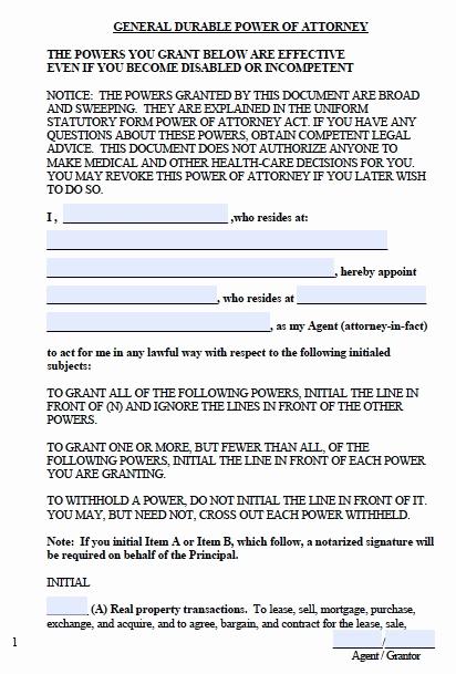 General Power Of attorney Pdf Beautiful Free West Virginia Financial Power Of attorney form – Pdf