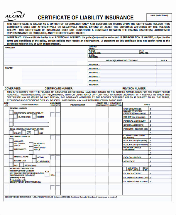 General Release Of Liability forms Luxury Sample General Liability Release form 7 Examples In
