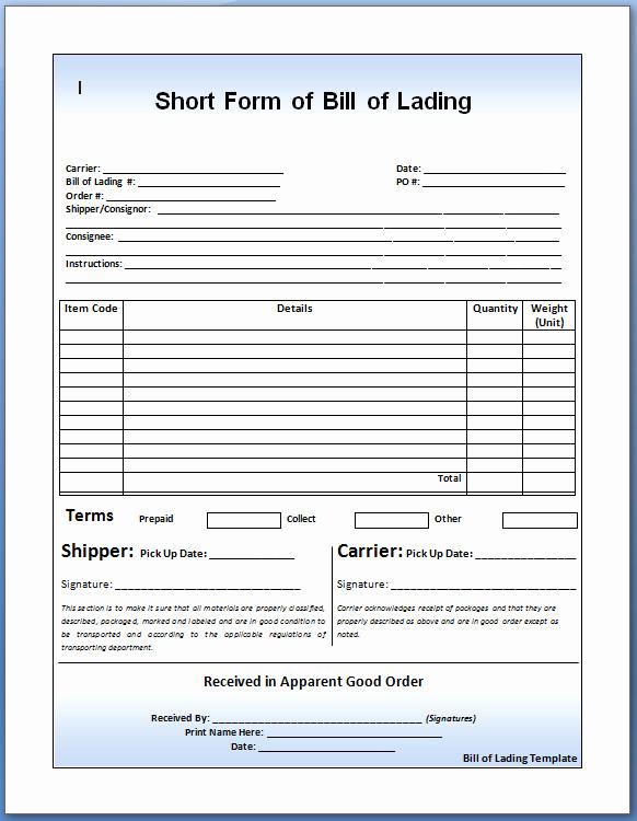 Generic Bill Of Lading Beautiful Generic Bill Lading Filename – Platte Sunga Zette