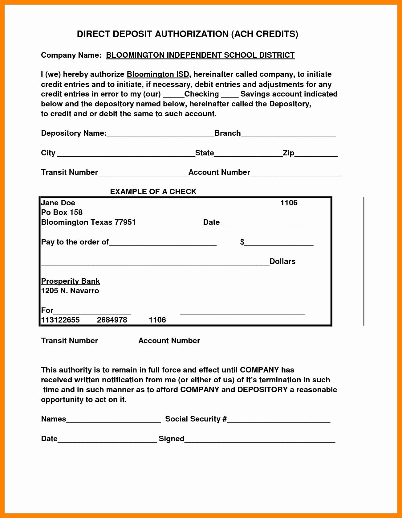 Generic Direct Deposit form Unique 10 Securitas Direct Deposit form
