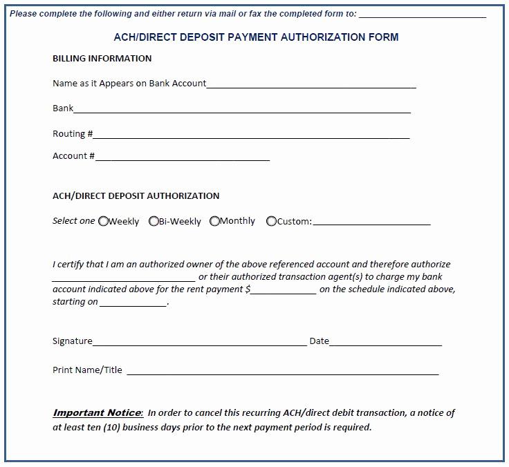 Generic Direct Deposit form Unique Credit Card Authorization Letter Writing form now