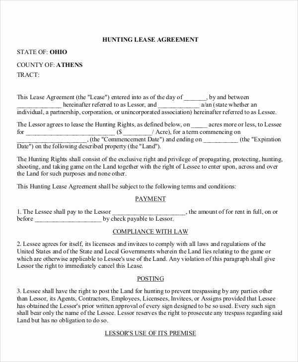 Generic Lease Agreement Pdf Elegant 50 Lease Agreements In Pdf