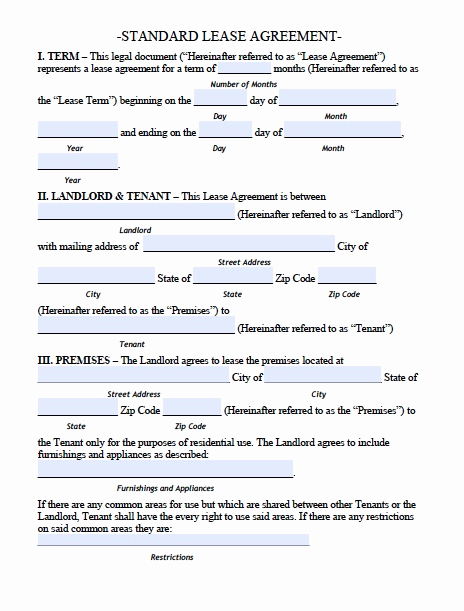 Generic Lease Agreement Pdf Fresh Generic Lease Agreement Pdf