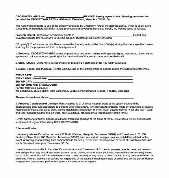 Generic Lease Agreement Pdf Lovely 8 Sample Generic Rental Agreements