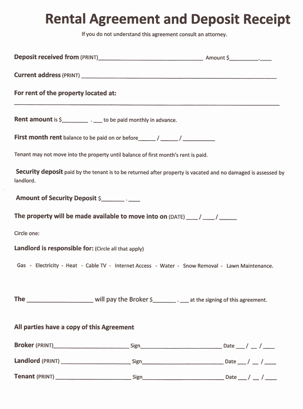 Generic Lease Agreement Pdf Lovely Rental Agreement forms